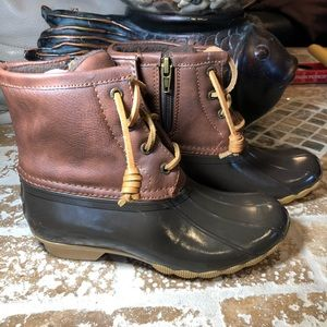 Sperry Duck boots size 1 girl